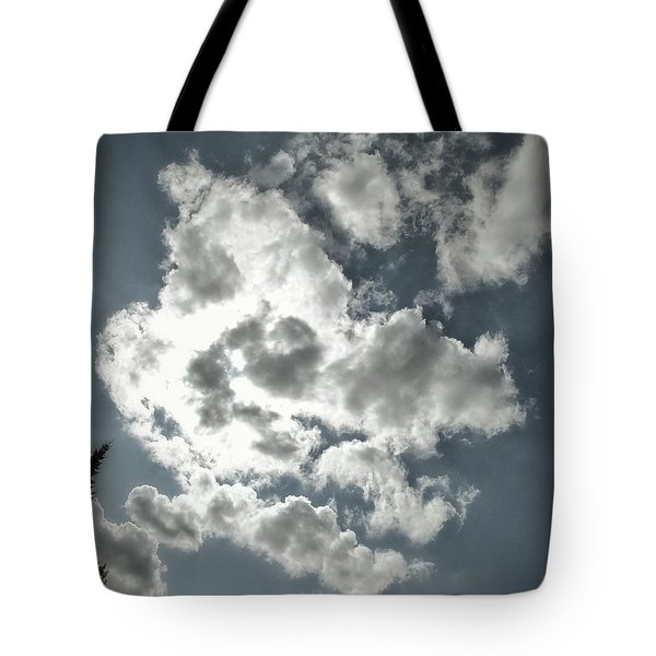 Drama In The Sky Tote Bag by Karen Stahlros