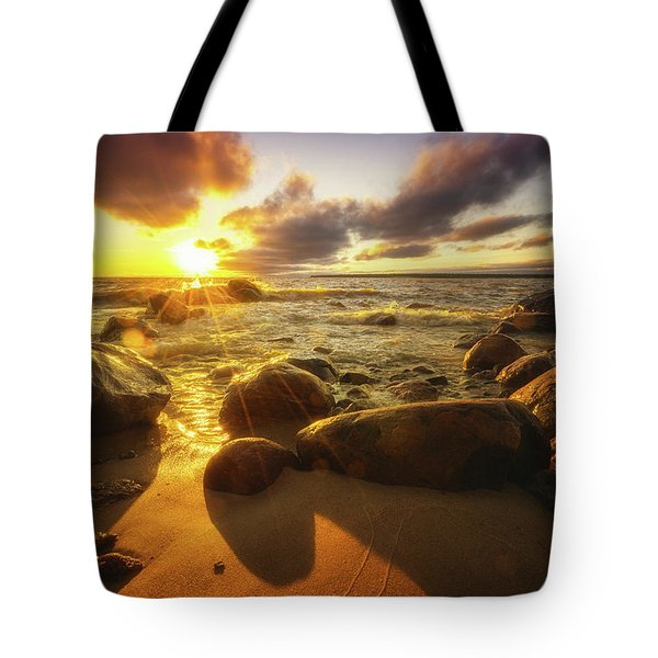 Drama On The Horizon Tote Bag