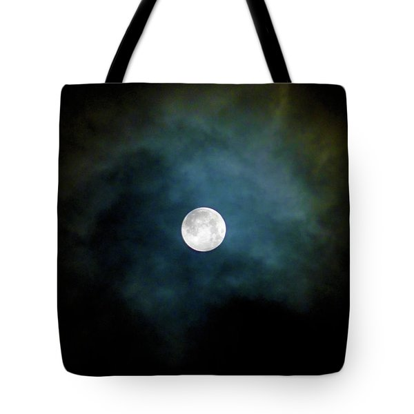 Tote Bag featuring the photograph Drama Queen Full Moon by Menega Sabidussi