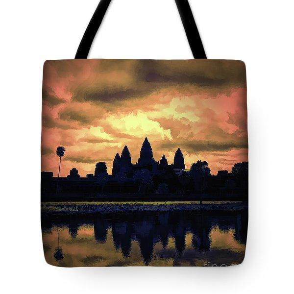 Dramatic Angkor Wat  Tote Bag