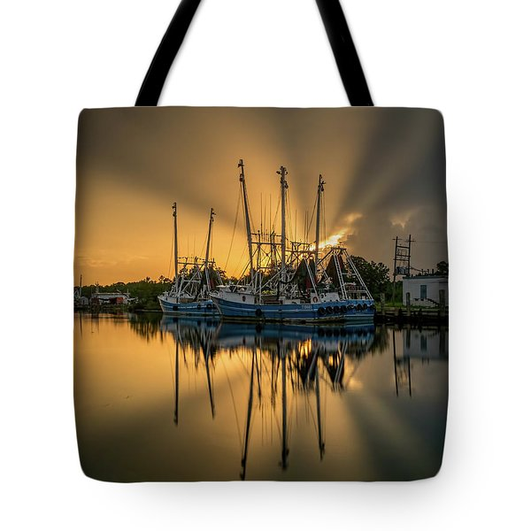 Dramatic Bayou Sunset Tote Bag
