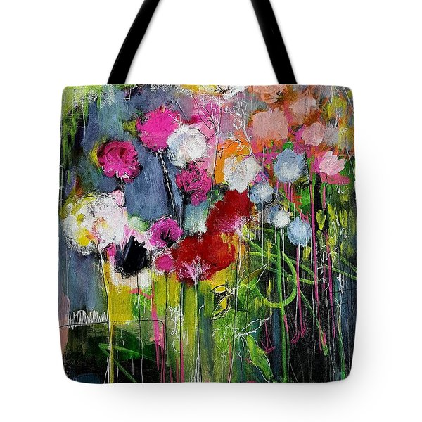 Dramatic Blooms Tote Bag by Nicole Slater
