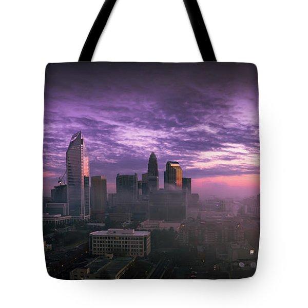 Dramatic Charlotte Sunrise Tote Bag