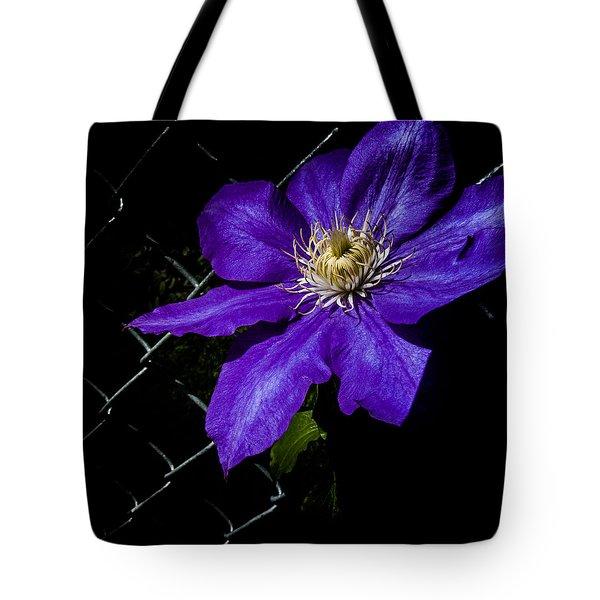Dramatic Clematis  Tote Bag