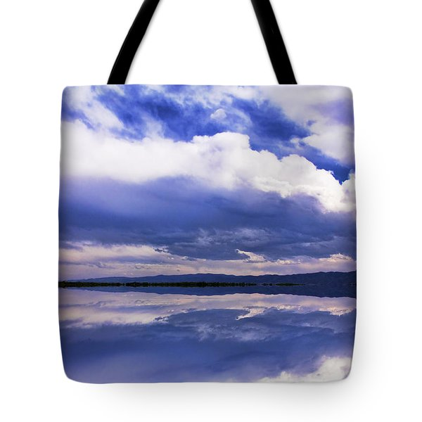 Dramatic Clouds Of A Coming Storm Tote Bag by Daphne Sampson