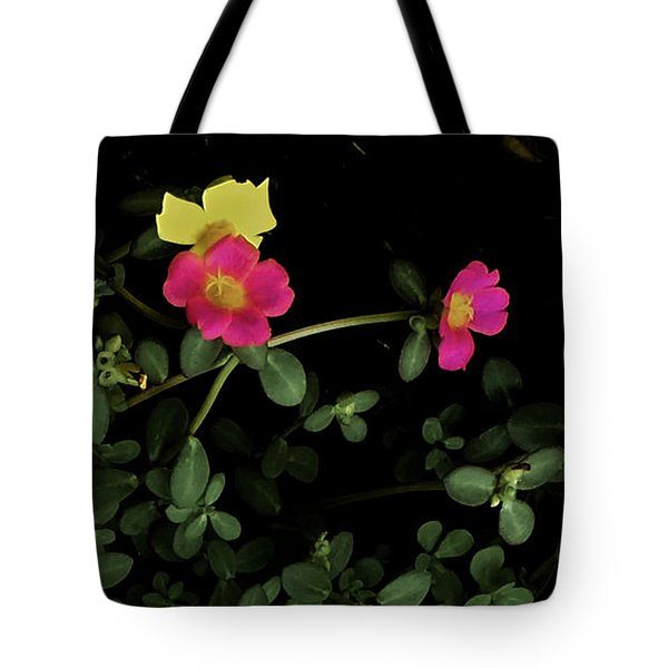 Dramatic Colorful Flowers Tote Bag