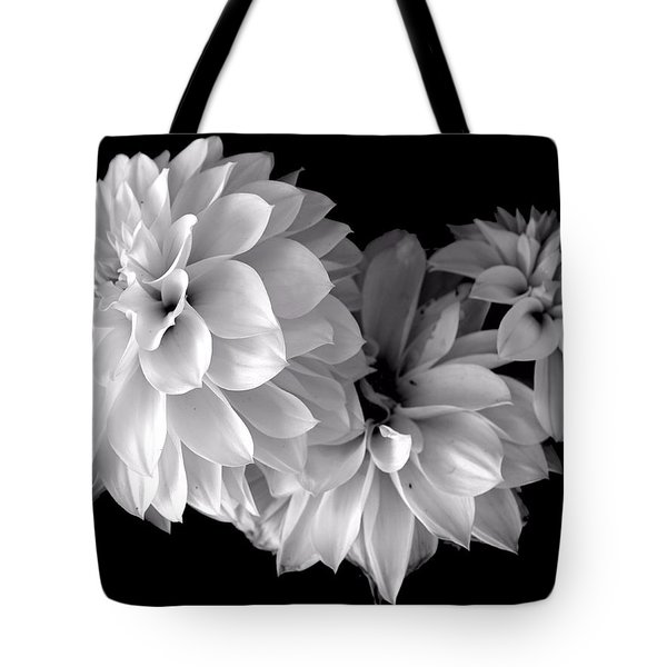 Dramatic Dahlias Tote Bag by Marianne Dow