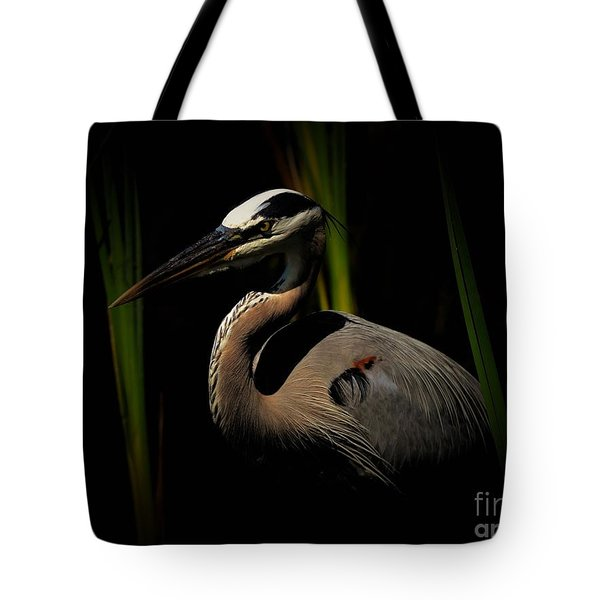 Dramatic Heron Tote Bag by Pamela Blizzard