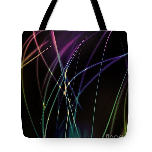 Dramatic Light Line Tote Bag