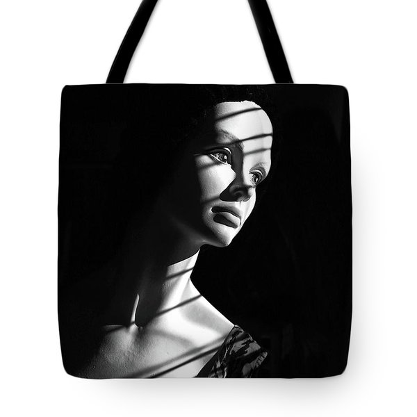 Tote Bag featuring the photograph Dramatic Lucy In Black And White by Nareeta Martin