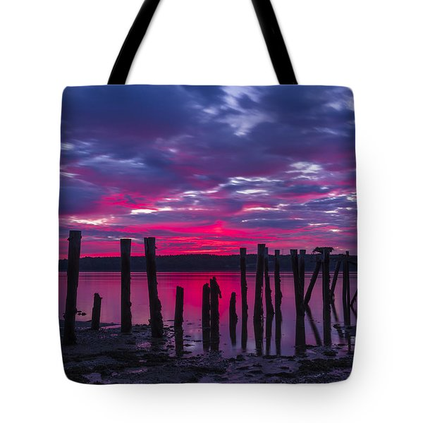 Dramatic Maine Sunrise Tote Bag