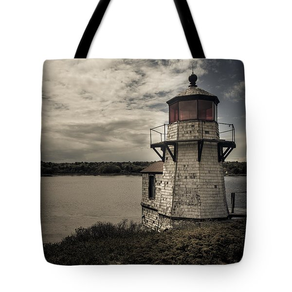 Dramatic Mid-day Shot Of Squirrel Point Tote Bag