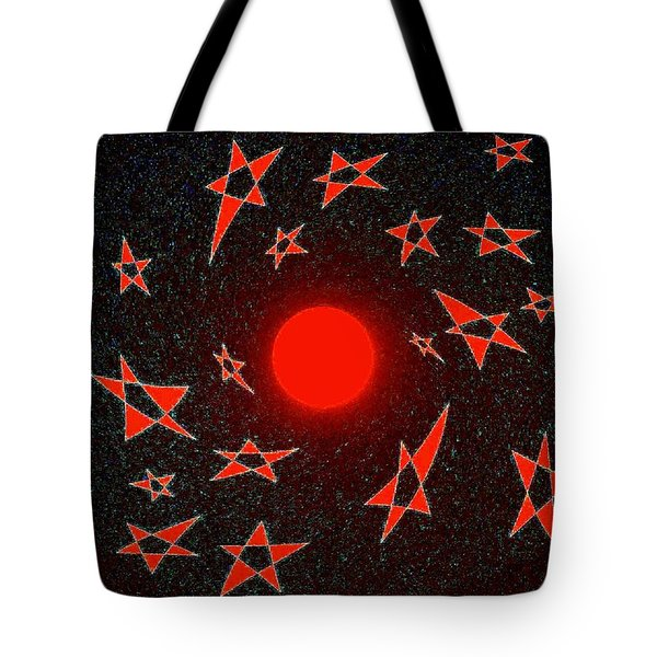 Tote Bag featuring the mixed media Dramatic Radiation  by Will Borden