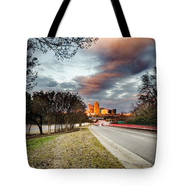 Dramatic Sunset Over Raleigh Tote Bag
