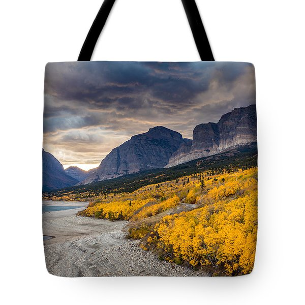 Dramatic Sunset Sky In Autumn  Tote Bag by Pierre Leclerc Photography