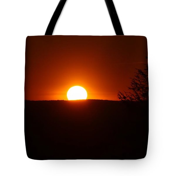 Dramatic Sunset View From Mount Tom Tote Bag