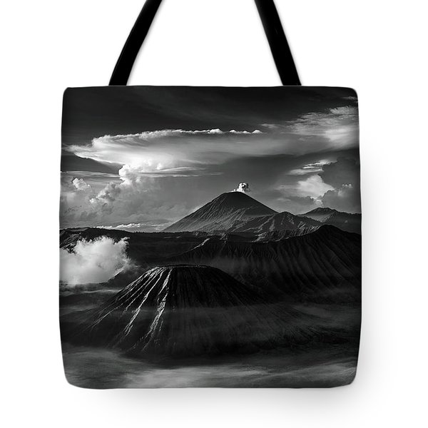 Tote Bag featuring the photograph Dramatic View Of Mount Bromo by Pradeep Raja Prints