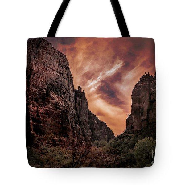Dramatic Zion National Park Utah  Tote Bag