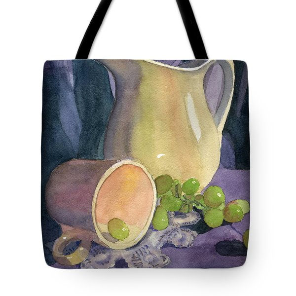 Drapes And Grapes Tote Bag