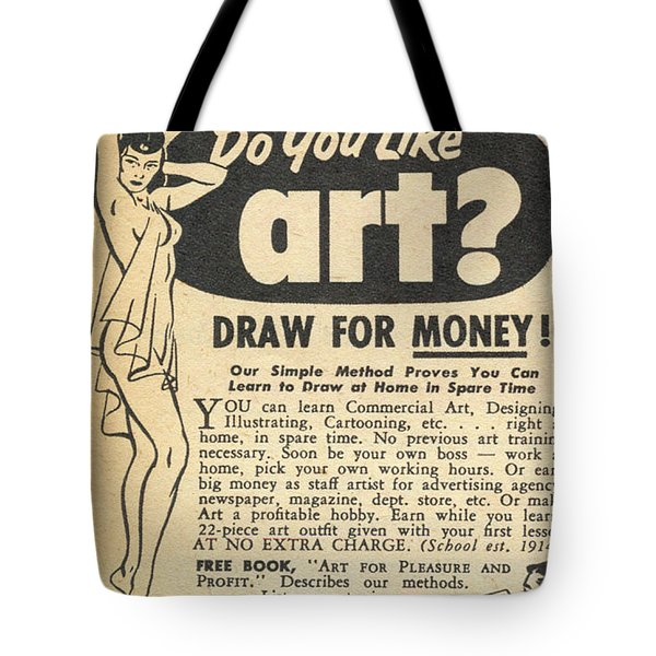 Tote Bag featuring the digital art Draw For Money by Reinvintaged
