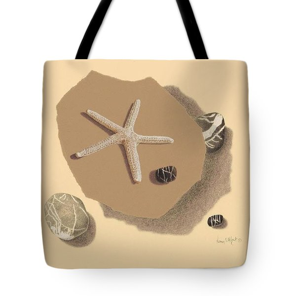 Drawing At The Beach Tote Bag