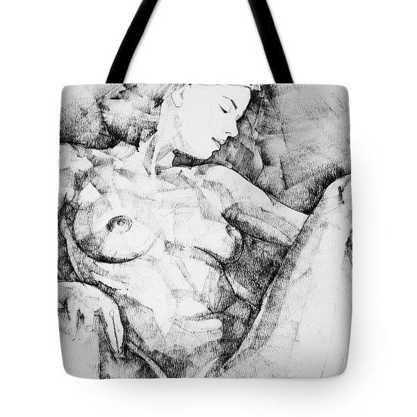 Drawing Beautiful Girl Figure Tote Bag