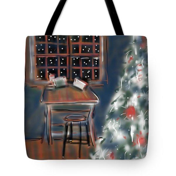 Drawing Board At Christmas Tote Bag