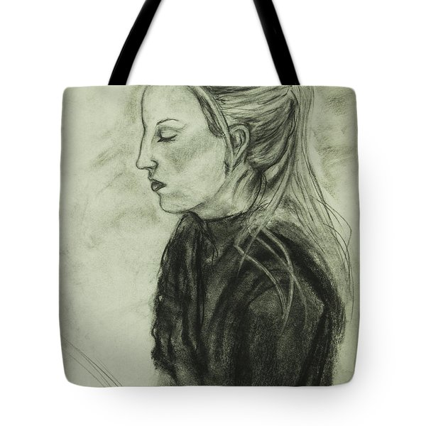 Drawing Of An Artist Tote Bag