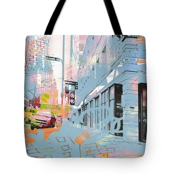 Drawing On Hennepin Ave.  Tote Bag