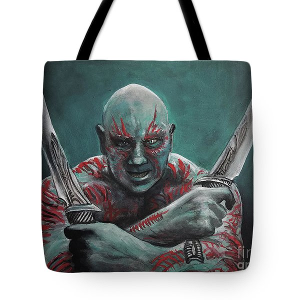 Drax The Destroyer Tote Bag by Tom Carlton