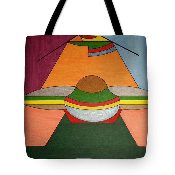 Tote Bag featuring the painting Dream 325 by S S-ray