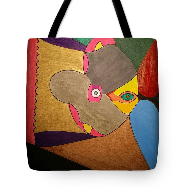 Tote Bag featuring the painting Dream 329 by S S-ray