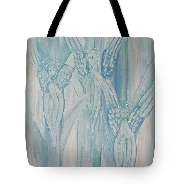 Tote Bag featuring the painting Dream Angels by Michele Myers