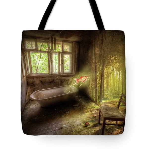 Tote Bag featuring the digital art Dream Bathtime by Nathan Wright