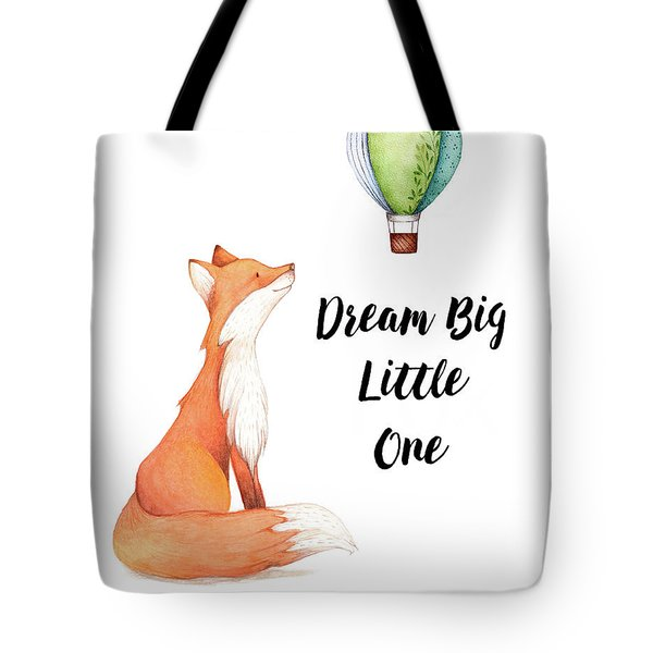 Tote Bag featuring the digital art Dream Big Little One by Colleen Taylor