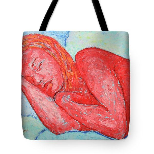 Tote Bag featuring the painting Dream Big   by Xueling Zou