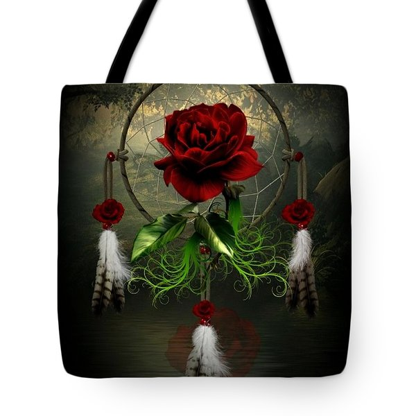 Dream Catcher Rose Tote Bag