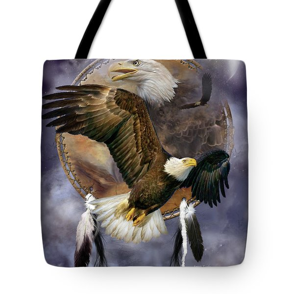 Dream Catcher - Spirit Eagle Tote Bag