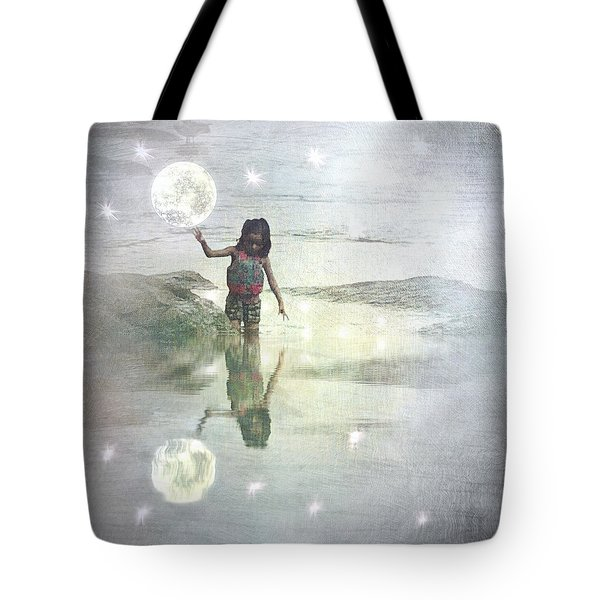 To Touch The Moon Tote Bag
