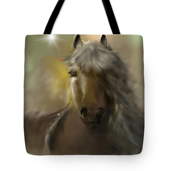 Tote Bag featuring the digital art Dream Horse by Darren Cannell