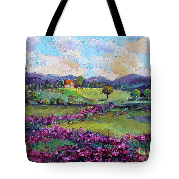Tote Bag featuring the painting Dream In Color by Jennifer Beaudet
