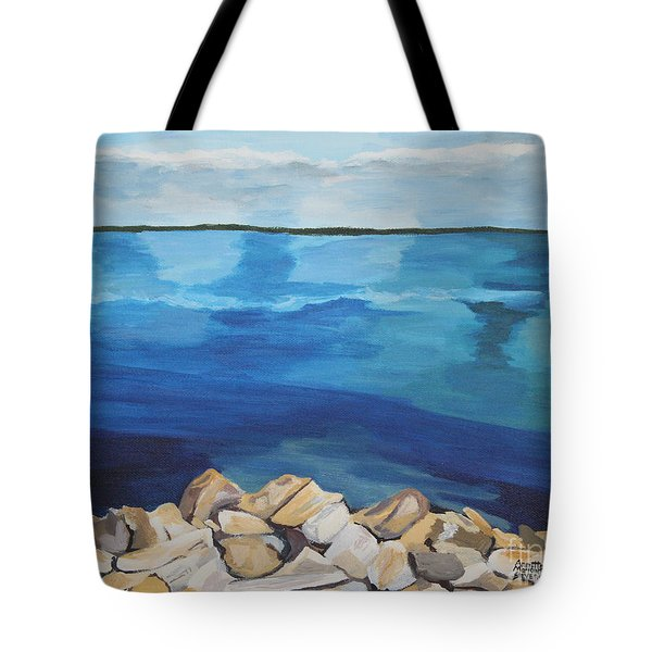 Dream Lake Tote Bag by Annette M Stevenson