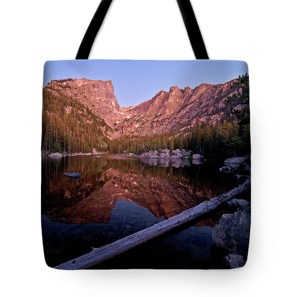 Tote Bag featuring the photograph Dream Lake by Gary Lengyel
