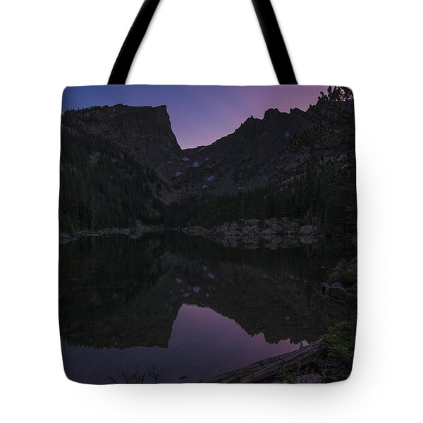 Tote Bag featuring the photograph Dream Lake Reflections by Gary Lengyel