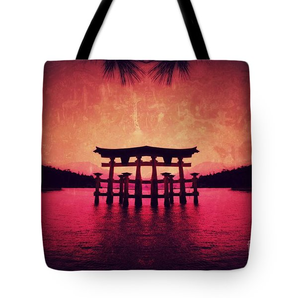 Tote Bag featuring the pyrography Dream Of Japan by Helge