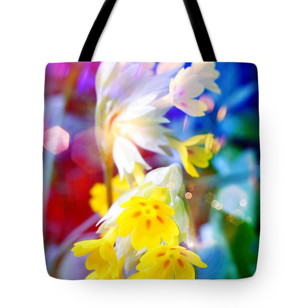 Dream Of Yellow Flowers Tote Bag by Mikko Tyllinen