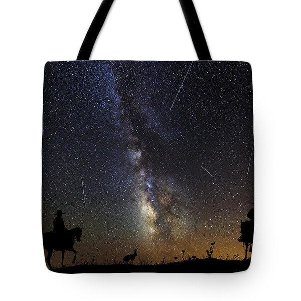 Dream Ride At Magic Time Tote Bag by Karen Slagle