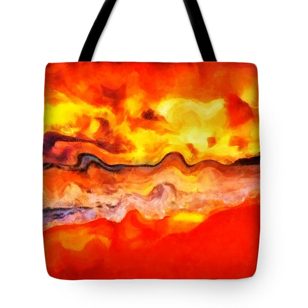 Tote Bag featuring the digital art Dream Scape  by Sir Josef - Social Critic - ART