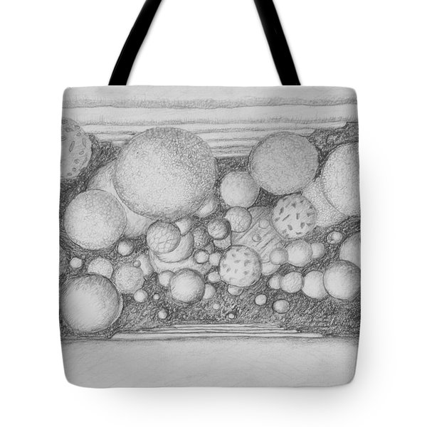 Tote Bag featuring the drawing Dream Spirits by Charles Bates