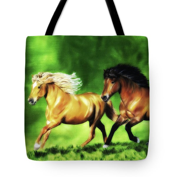 Tote Bag featuring the painting Dream Team by Shari Nees